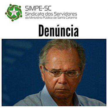 SIMPE-SC aciona Comissão de Ética Pública contra ataques de Paulo Guedes aos servidores públicos